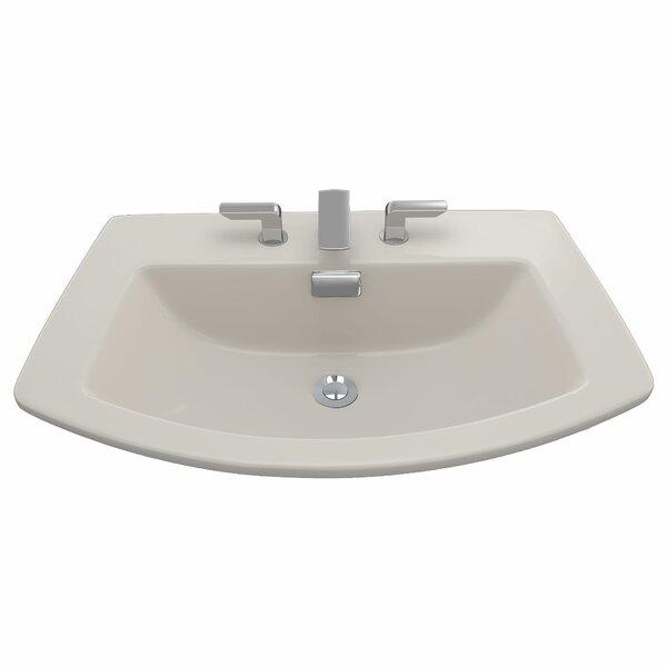 Soiree Ceramic Specialty Drop-In Bathroom Sink with Overflow