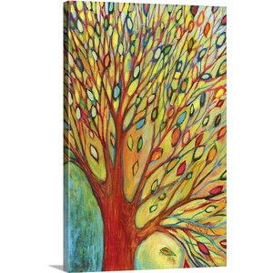 'Rainbow Tree In Autumn' by Jennifer Lommers Painting Print on Canvas by Great Big Canvas
