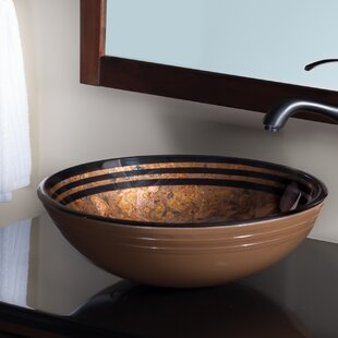 Trend Tappezzeria Glass Circular Vessel Bathroom Sink By Novatto