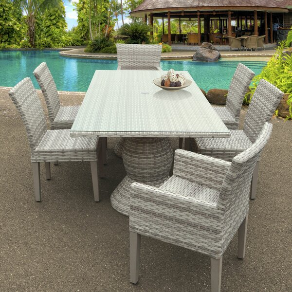 Ansonia 7 Piece Outdoor Dining Set by Rosecliff Heights