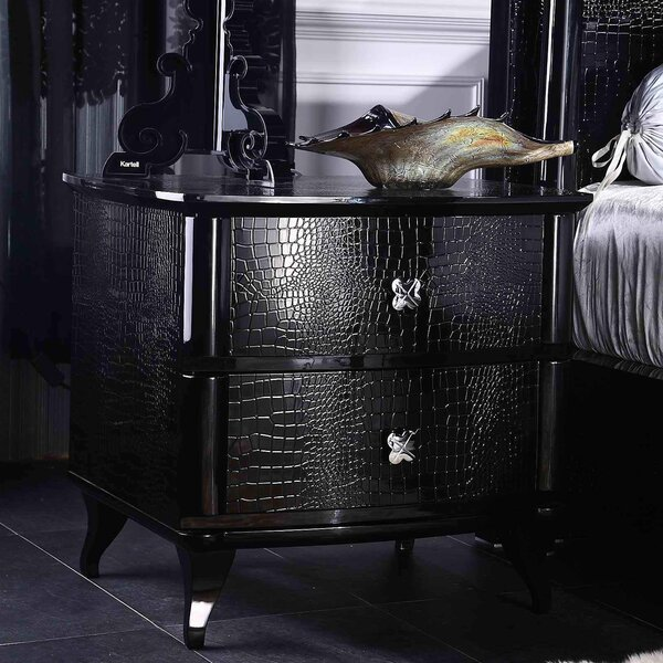 Janine 2 Drawer Metal Nightstand by Willa Arlo Interiors