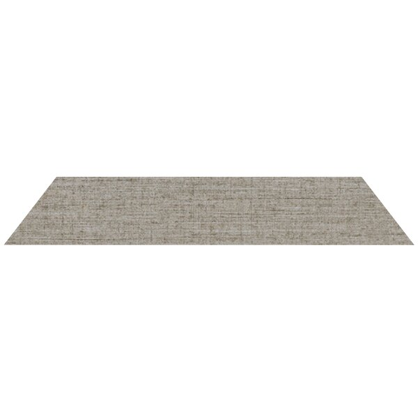Merino Reverse Rhomboid 4 x 24 Porcelain Field Tile in Gray by Madrid Ceramics