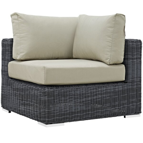 Keiran Outdoor Patio Corner Chair with Cushion by Brayden Studio