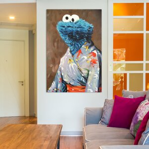 'Kimono Monster' Painting Print on Wrapped Canvas by East Urban Home