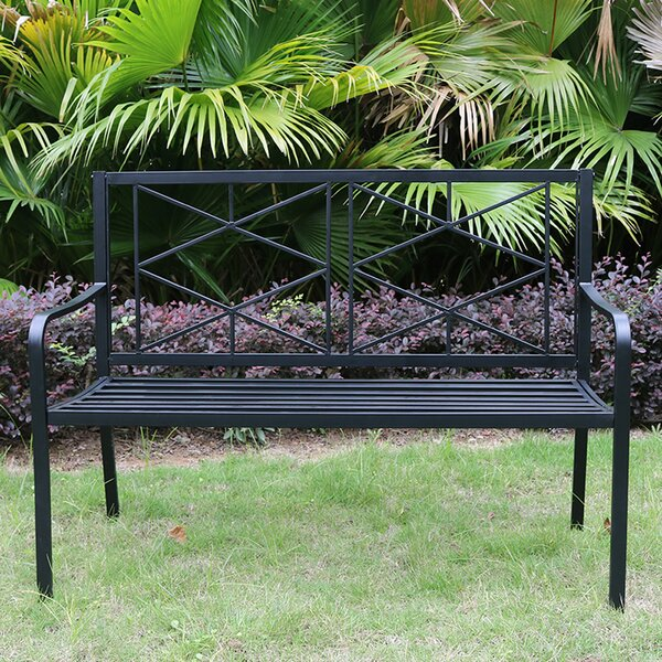Balbuena Patio Steel Garden Bench