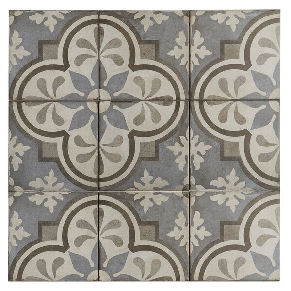 8 x 8 Porcelain Field Tile in Grande Fiore by Itona Tile