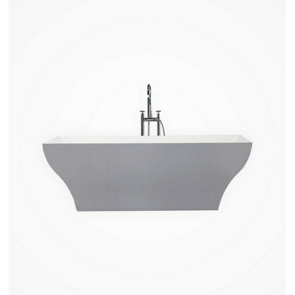 Volta 71 x 32 Freestanding Soaking Bathtub by Kube Bath