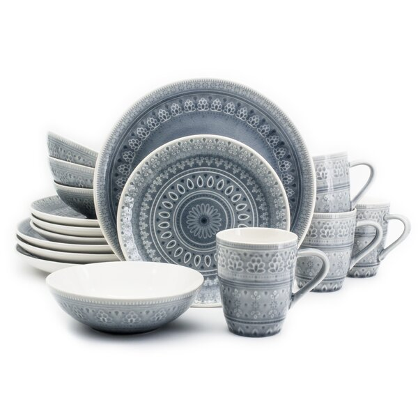 McKenney 16 Piece Dinnerware Set, Service for 4 by