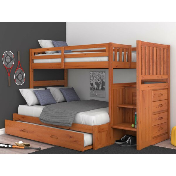 Giuliano Twin Over Full Bunk Bed with Trundle and Drawers by Birch Lane™ Heritage