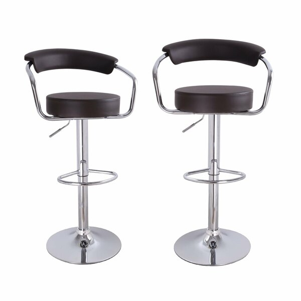 Konivetska Adjustable Height Swivel Bar Stool (Set of 2) by Ebern Designs