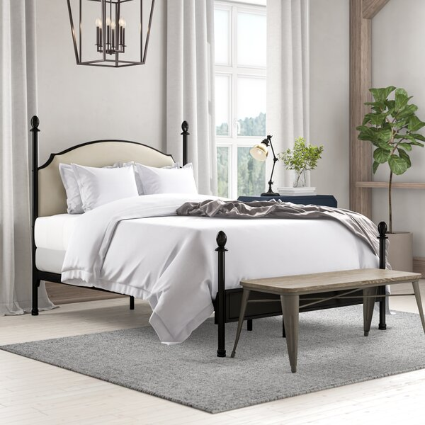 Granite Range Upholstered Canopy Bed by Laurel Foundry Modern Farmhouse