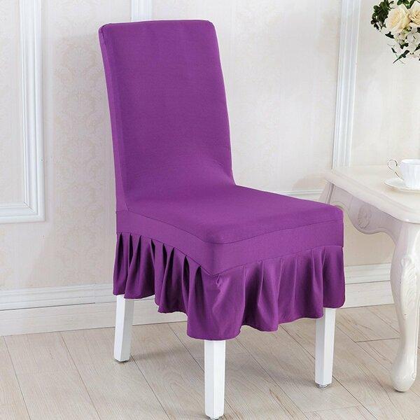 Elegant Box Cushion Dining Chair Slipcover by House of Hampton