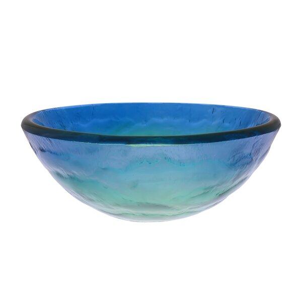 Mare Glass Circular Vessel Bathroom Sink by Novatto