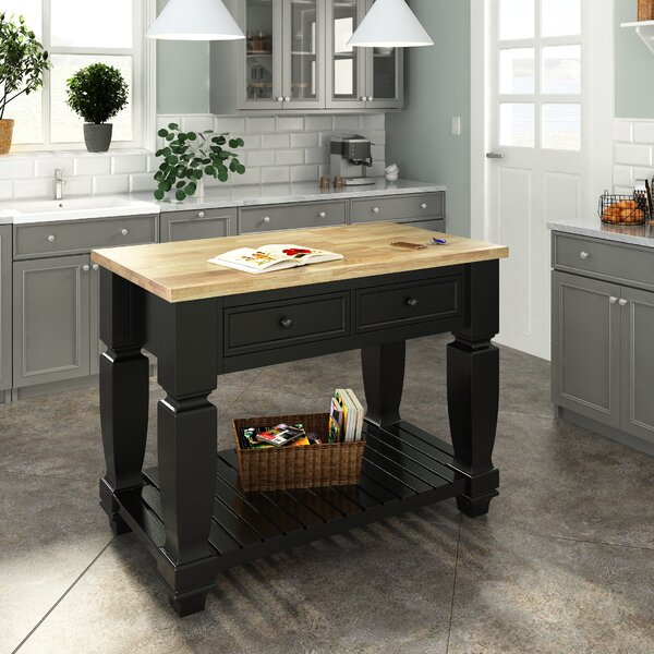 Chelsea Kitchen Island with Wood Top by Lanza