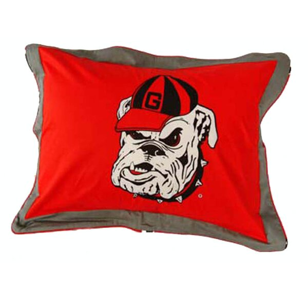 NCAA Georgia Pillow Sham by College Covers