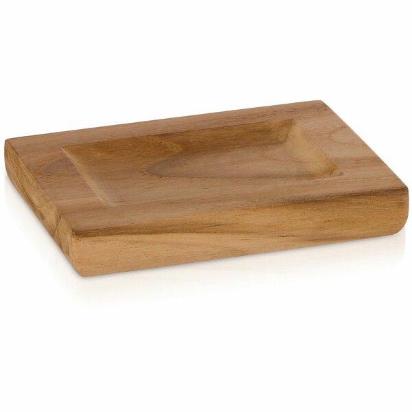 Trevor Teak Wood Round Soap Dish by Union Rustic