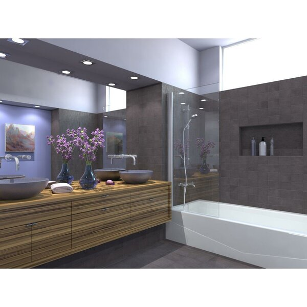 33.5 x 64 Pivot Semi-Frameless Tub Door by Ark Showers