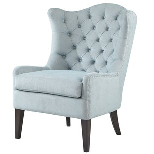 Compare prices Van Houzen Wingback Chair by Alcott Hill
