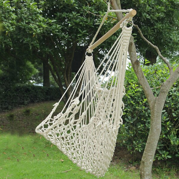 Ally Woven Rope Tree Hanging Indoor/Outdoor Cotton Chair Hammock by Beachcrest Home