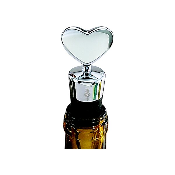 Heart Bottle Stopper with Flat Bottom by Creative Gifts International