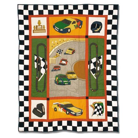 Racecar Crib Quilt by Patch Magic