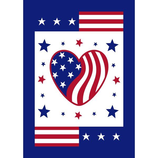 Heart of America Garden flag by Toland Home Garden