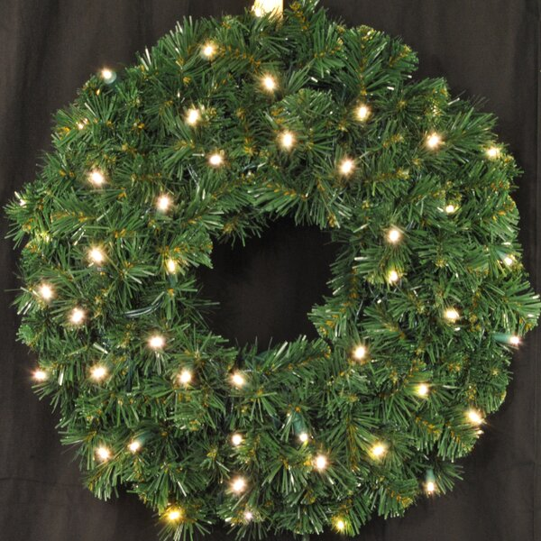 Pre-Lit LED Sequoia Wreath by Queens of Christmas