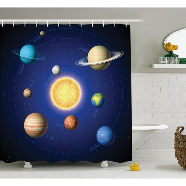 Marley Solar System with Planets Shower Curtain by Zoomie Kids