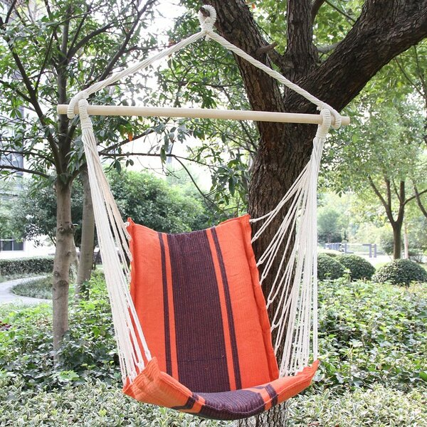 Nisbett Cotton Fabric Hanging Chair hammock by Andover Mills
