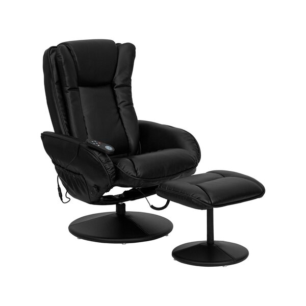 Amberella Manual Swivel Recliner With Ottoman By Ebern Designs