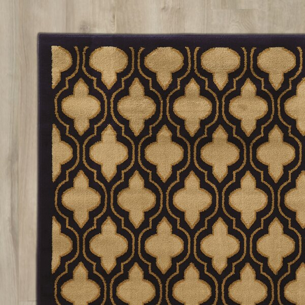 Lotz Yellow/Black Area Rug by Mercer41