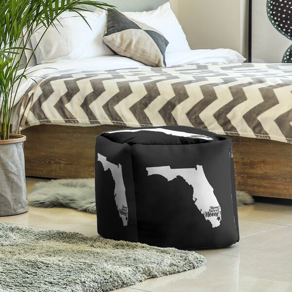 Home Sweet Miami Cube Ottoman By East Urban Home