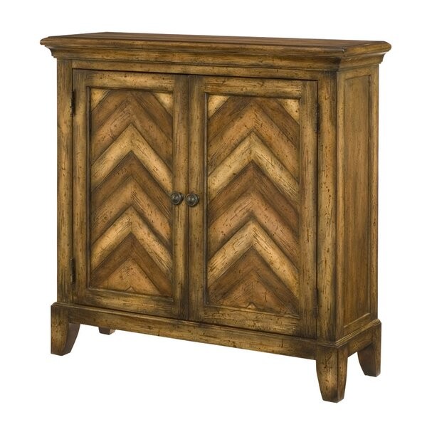 Pedro Chevron Cabinet by Bungalow Rose