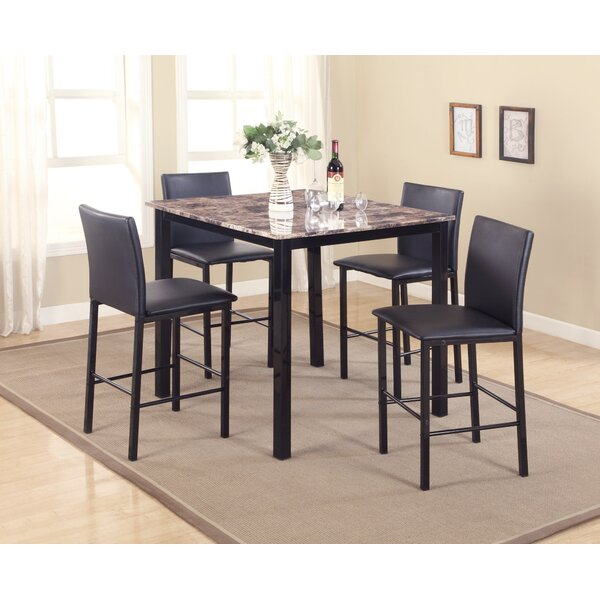 Noyes 5 Piece Counter Height Dining Set by Red Barrel Studio
