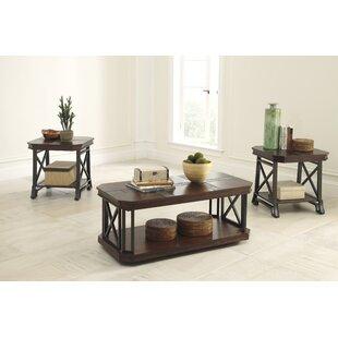 Antlers 3 Piece Coffee Table Set Loon Peak