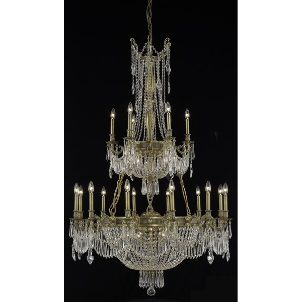 Ursula 27 - Light Candle Style Empire Chandelier With Crystal Accents By Astoria Grand