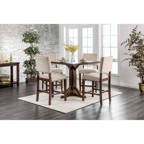 Hong 5 Piece Counter Height Breakfast Nook Dining Set by Gracie Oaks
