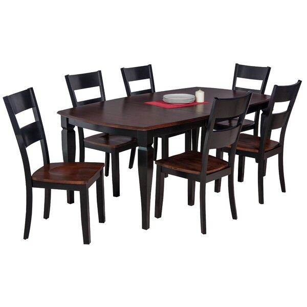 Besse Traditional 7 Piece Wood Dining Set by Red Barrel Studio