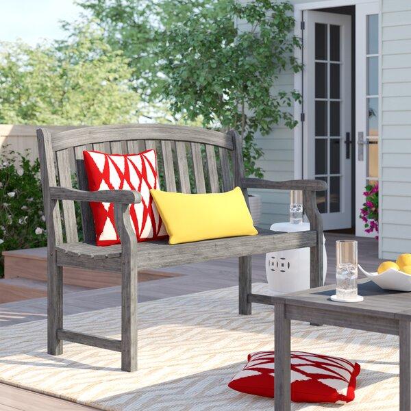 Shelbie Wooden Garden Bench by Sol 72 Outdoor Sol 72 Outdoor