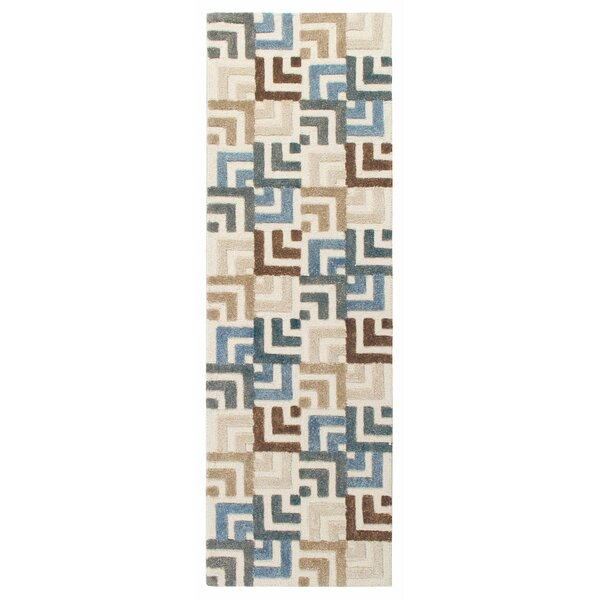 Squared Off Hand-Tufted Cream/Gray Area Rug by CompanyC