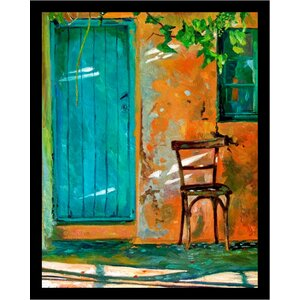 'Old Wood Chair Poster' by David Lloyd Glover Framed Painting Print by Buy Art For Less