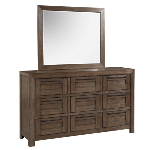 9 Drawer Triple Dresser With Mirror By Foundry Select