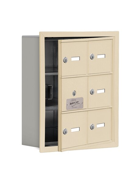 3 Tier 2 Wide EmpLoyee Locker by Salsbury Industries