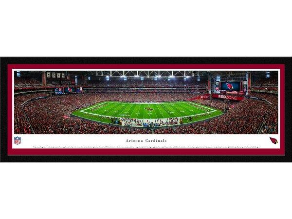NFL Arizona Cardinals 50 Yard Line Framed Photographic Print by Blakeway Worldwide Panoramas, Inc