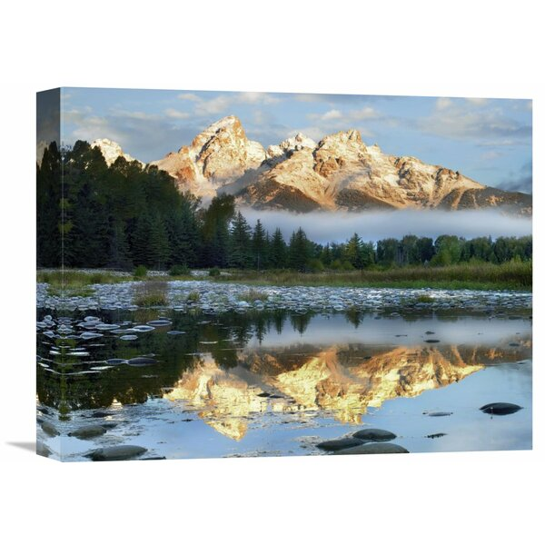 Nature Photographs Pond Reflecting Grand Tetons Grand Teton National Park Wyoming by Tim Fitzharris Photographic Print on Wrapped Canvas by Global Gallery