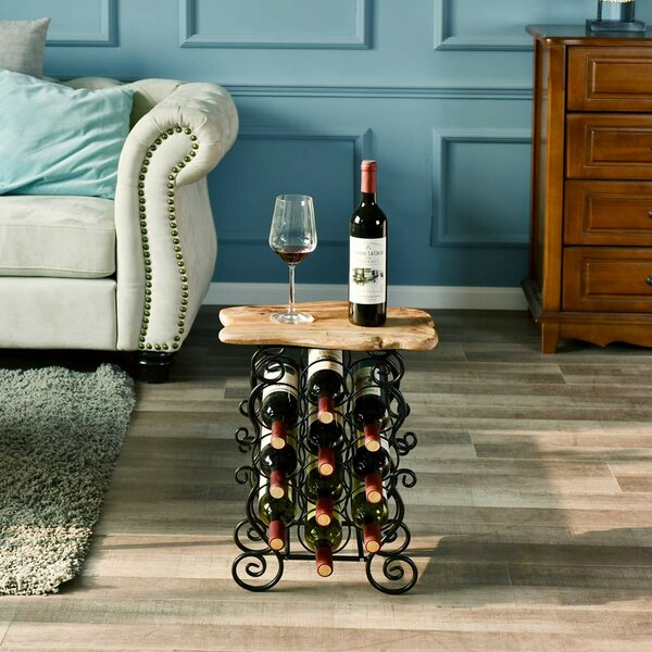 Kellyville 10 Bottle Floor Wine Bottle Rack By Fleur De Lis Living