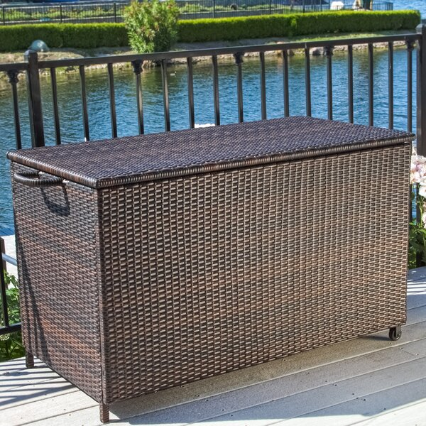 Ugarte 150 Gallon Wicker Deck Box by Highland Dunes Highland Dunes