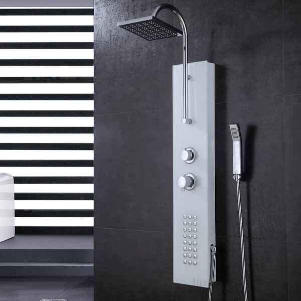 Thermostatic Rain Shower Head Shower Panel by Luxier