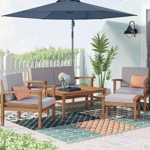 Marcial 5 Piece Sofa Set with Cushions By Beachcrest Home