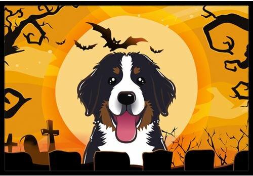Halloween Bernese Mountain Dog Doormat by Caroline's Treasures